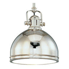 Hudson Valley Lighting Marion Polished Nickel Pendant Light w/ 1 Light 150W