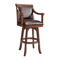 Palm Springs Swivel Bar Stool, Medium Brown Cherry