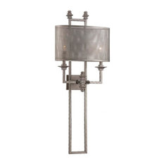 Structure 2 Light Wall Sconce in Aged Steel