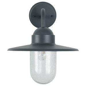 Lilium Outdoor Lantern Wall Light, Grey