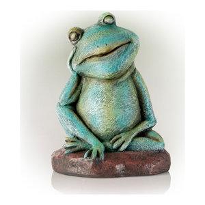 Alpine Pensative Sleeping Frog Statue, 15