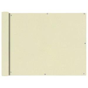 Oxford Fabric Balcony Screen, Cream, 90x600 cm