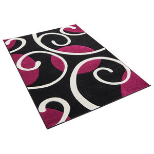 Couture Black Purple Rectangular Rug, 160x230 cm