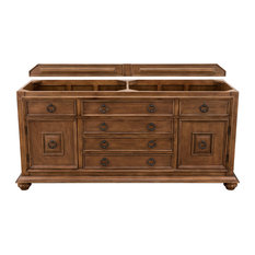 "Mykonos 72"" Double Vanity Cabinet Cinnamon, Base Cabinet Only"
