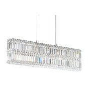 Schonbek Lighting Quantum Stainless Steel Linear Chandelier