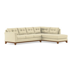 Marco 2-Piece Sectional Sleeper Sofa Bisque Chaise On Right