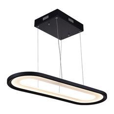 LED Chandelier, Black Finish, 27x10