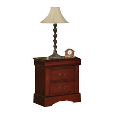 Solid Wood Nightstand Cherry Finish
