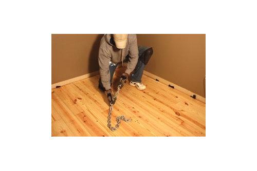 On Site Distressed Pine Floors