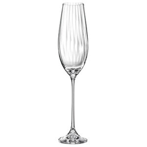 Waterfall Champagne Flutes, Set of 6