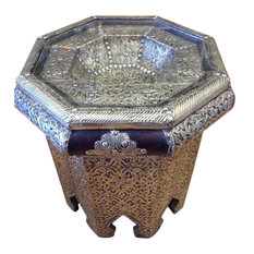 Moroccan Octagonal Table, Silver