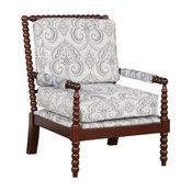 Spindal Wood Frame Chair in Dark Walnut