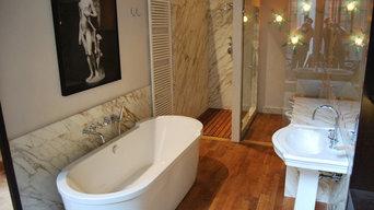 bagni in marmo calacatta oro