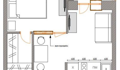 Поиск планировки: 3 варианта для «однушки» с эркером