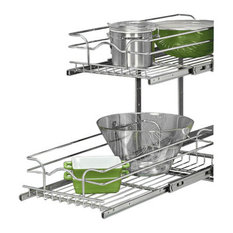 "21"" Chrome Two-Tier Wire Baskets"