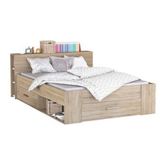 Pocket Euro Double Panel Bed, Natural