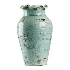 Abigail Vase, Blue, Medium