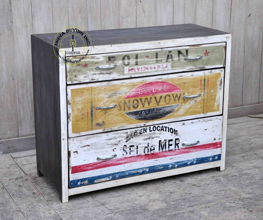 Industrial retro vintage french furniture
