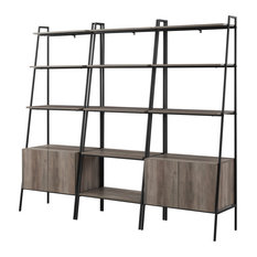 3-Piece Bookcase Set, Gray Wash