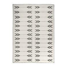 Apache Black and White Area Rug, 160x230 cm