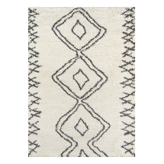 MOD - Terni Rug, Ivory and Charcoal, 2'x3' - Area Rugs