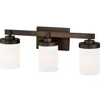 """Bathroom Vanity 3 Light Fixtures W/ Architectural Bronze Steel Medium 21"""" 300 W"""