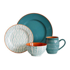 Tanigers 16-Piece Dinnerware Set, Turquoise
