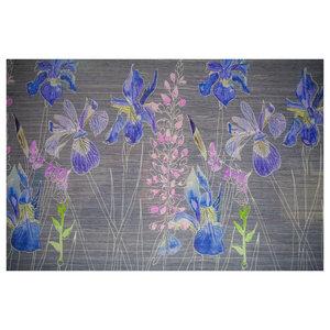 Watercolour Glass Splashback, Grey, 70x60 Cm