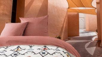 ALES - Relooking d'une chambre - Parure de lit colorée pour la belle saison