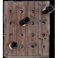 Brown Wood Rustic Wine Holder Rack, 25x21x4
