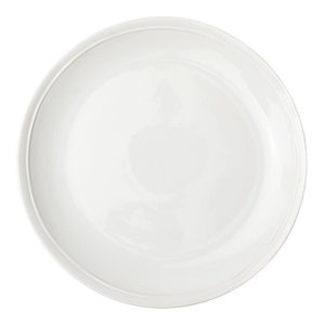 KOUBOO Round Rattan Charger Plate White Wash Pack of 2