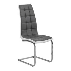 Marilyn Faux Leather Dining Side Chairs Set Of 2 Gray