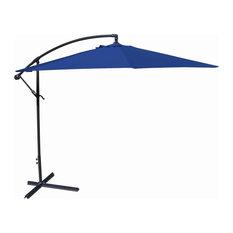 10ft Offset Steel Umbrella, Royal