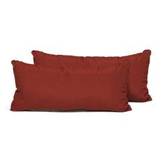 Rectangle Outdoor Patio Pillows, Terracotta