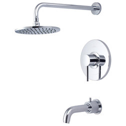 Contemporary Tub And Shower Faucet Sets by Buildcom