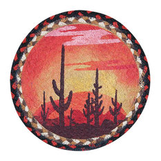 "MSDesert Sunset Printed Round Trivet 10""x10"""