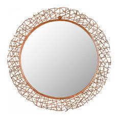 Safavieh - Safavieh Alyssa Mirror, Burnt Copper - Wall Mirrors