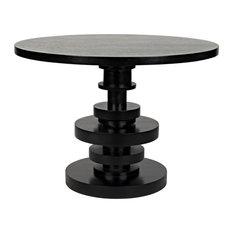 NOIR Furniture - Corum Round Table, Hand Rubbed Black - GTAB544HB