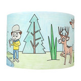 In The Woods - cute lampshade for painting