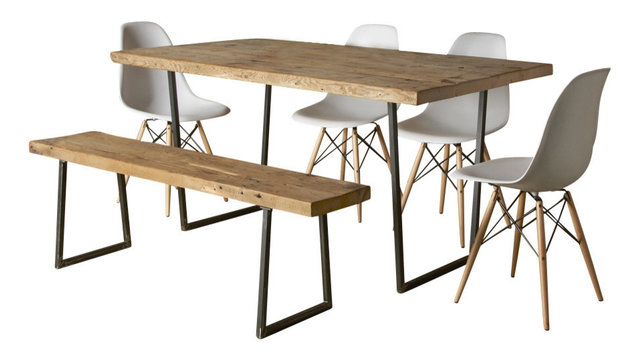 Brooklyn Modern Rustic Reclaimed Wood Dining Table Standard 48x30