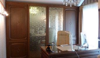 Шкаф-комната -массив ореха