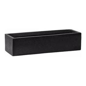 Window Box Fiberstone Low Planter, Black