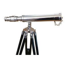 """Standing Chrome Harbor Master Telescope, 30"""""""