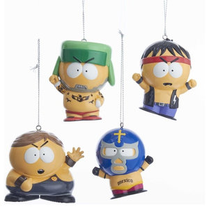e6b8b11a4ef82 Kurt Adler Despicable Me Dave and Carl Ornaments With Santa Hat