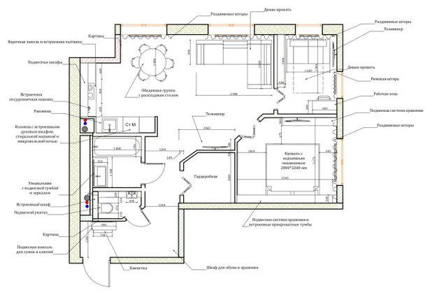 Поиск планировки: 7 вариантов проекта Карины Неделяй