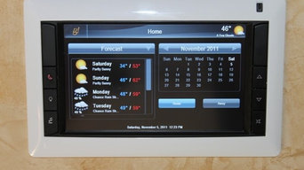 Touchscreen for lighting, audio, climate and video control