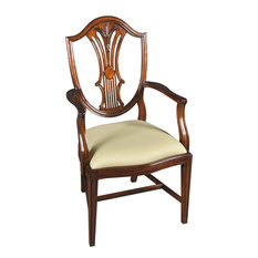Arm Chair H-Stretcher Sweeping Crest Rail