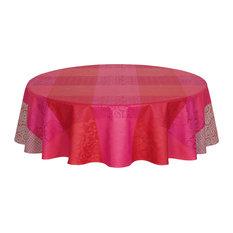 LE JACQUARD FRANCAIS   Fleurs De Kyoto Round Coated Tablecloth   Tablecloths