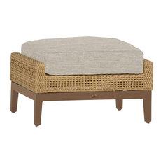Summer Classics Peninsula Ottoman, Linen Dove Cushion