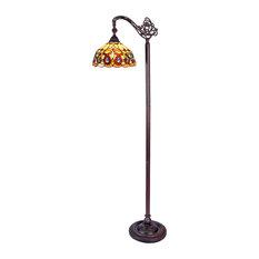 """Serenity 1-Light Reading Floor Lamp 11"""""""